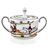 Wedgwood Hunt Scene Covered Sugar Bowl