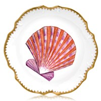 Anna Weatherley Seascape Shell Bread & Butter Plate, Pink Scallop Shell