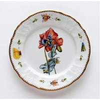 Anna Weatherley Redoute Salad Plate, Red Poppy