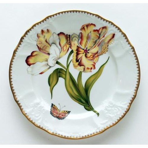 Anna Weatherley Double Tulips Salad Plate