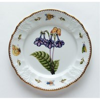 Anna Weatherley Redoute Salad Plate, Purple Flower