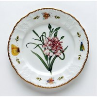 Anna Weatherley Redoute Salad Plate, Pink Flower