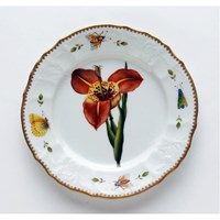 Anna Weatherley Redoute Salad Plate, Red Flower