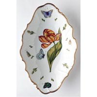 Anna Weatherley Old Master Tulips Oval Open Vegetable Bowl