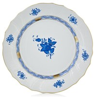 Herend Chinese Bouquet Blue Large Dinner Plate