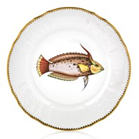Anna Weatherley Antique Fish Dinner Plate, Rainbow Spotted