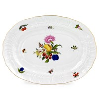 Herend Fruits & Flowers Oval Platter, Medium