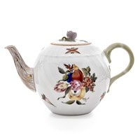 Herend Fruits & Flowers Teapot with Rose Finial