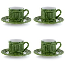 Fleurie Cup & Saucer, Set of 4