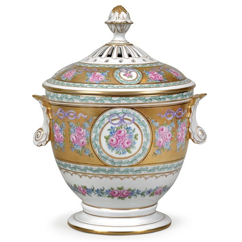 Dresden Porcelain Flower Tureen