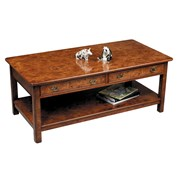 2-Drawer 2-Tier Coffee Table Elm