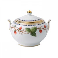 Wedgwood Wild Strawberry Covered Sugar Bowl