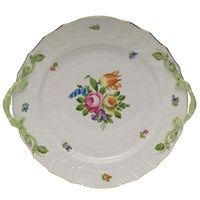Herend Printemps Chop Plate with Handles