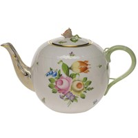 Herend Printemps Teapot with Rose Finial, Large