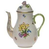 Herend Printemps Coffee Pot with Rose Finial, Medium