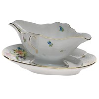 Herend Printemps Gravy Boat with Fixed Stand