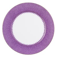 Mottahedeh Purple Lace Charger / Presentation Plate