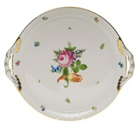 Herend Printemps Round Tray with Handles