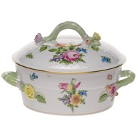Herend Printemps Small Covered Vegetable Dish