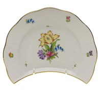 Herend Printemps Crescent Salad Plate