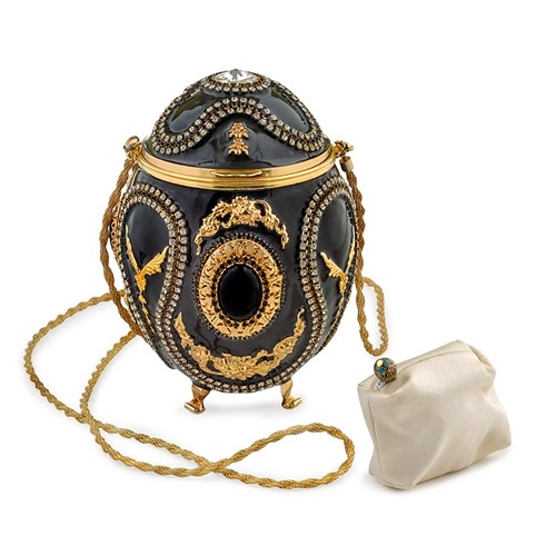 Black & Gold Faberge Egg Purse