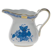 Herend Chinese Bouquet Blue Creamer, Large