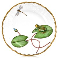 Anna Weatherley Seascape Waterlily with Frog Salad Plate