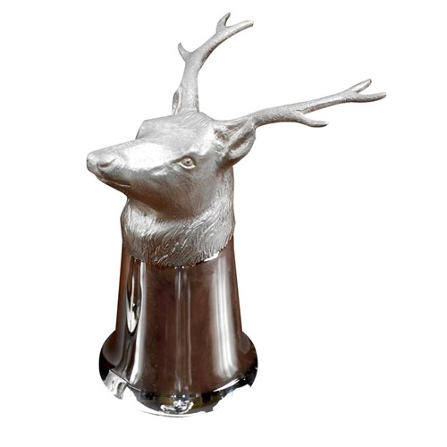 Sterling Silver Stag Stirrup Cup