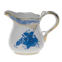 Herend Chinese Bouquet Blue Creamer, Small
