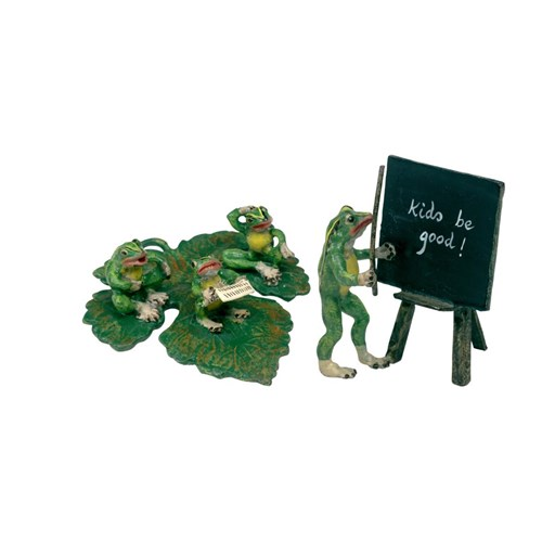 Austrian Bronze Two-Piece Frog School