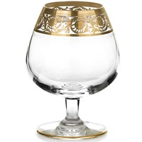 St. Louis Thistle Gold Brandy Snifter