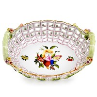 Herend Fruits & Flowers Openwork Basket