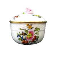 Herend Fruits & Flowers Covered Sugar Bowl