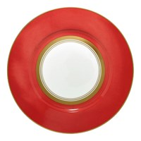 Raynaud Cristobal Coral Wide Band Dinner Plate