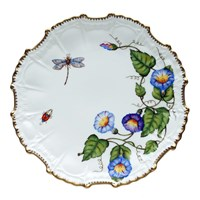 Anna Weatherley Morning Glory Ruffle Dinner Plate