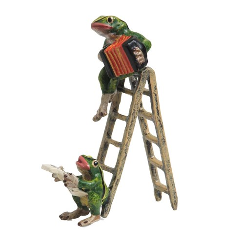 Austrian Bronze Two Frogs on Ladder