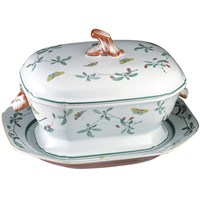 Mottahedeh Famille Verte Tureen & Stand