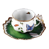 Anna Weatherley Morning Glory Ruffle Cup & Saucer
