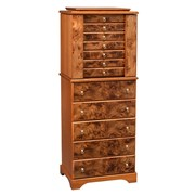 Briarwood & Mahogany Jewelry Chest