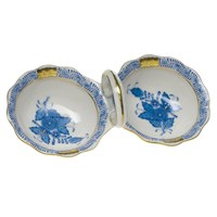 Herend Chinese Bouquet Blue Twin Salt Set