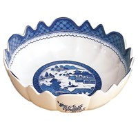 Mottahedeh Blue Canton Scalloped Bowl
