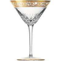 St. Louis Thistle Gold Martini Glass