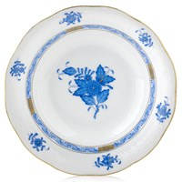 Herend Chinese Bouquet Blue Cereal Bowl