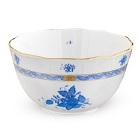 Herend Chinese Bouquet Blue Round Vegetable Bowl