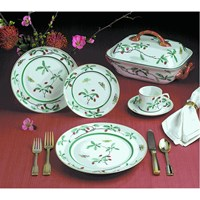 Mottahedeh Famille Verte 5 Piece Place Setting