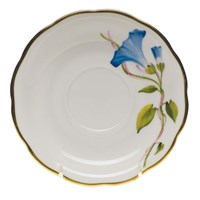 Herend American Wildflowers Morning Glory Tea Saucer