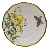 Herend American Wildflowers Lily Bread & Butter Plate