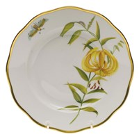 Herend American Wildflowers Meadow Lily Salad Plate
