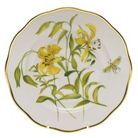 Herend American Wildflowers Meadow Lily Dessert Plate