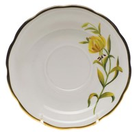 Herend American Wildflowers Meadow Lily Tea Saucer